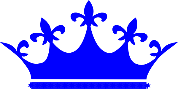 King crown clip art blue - photo#15