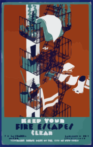 Keep Your Fire Escapes Clear Clip Art