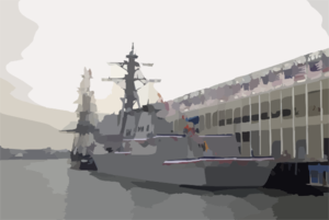 Uss Preble (ddg 88) Held Its Commissioning Ceremony On South Boston Clip Art