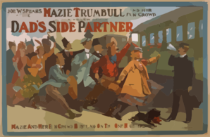 Joe W. Spears Presents Mazie Trumbull And Her Fun Crowd In A Brand New Comedy, Dad S Side Partner Clip Art