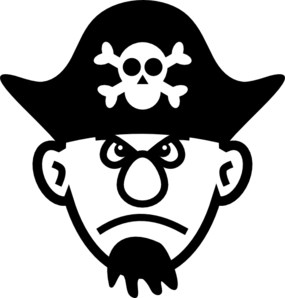 Angry Young Pirate Clip Art