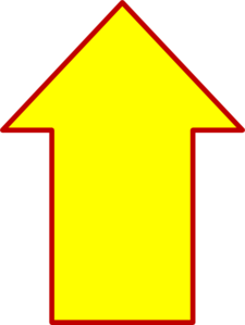 Up Yellow Arrow Clip Art