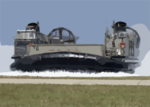 A Landing Craft Air Cushion (lcac) Comes Ashore At U.s. Naval Forces Marianas Island Clip Art