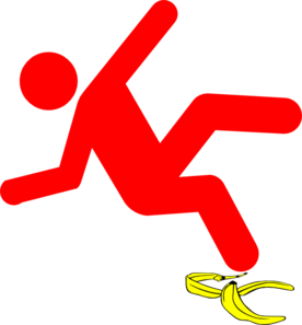 Slip Man Red Clip Art