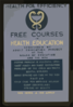 Health For Efficiency Free Courses In Health Education Sponsored By Adult Education Project Of The Board Of Education And The Wpa. Clip Art