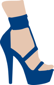 Blue High Heel Clip Art