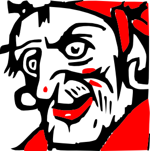 Scary Face Pirate Clip Art