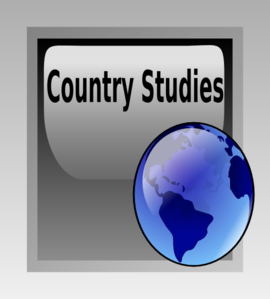 Country Study Button Clip Art