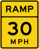 Ramp 30 Mph Road Sign Clip Art