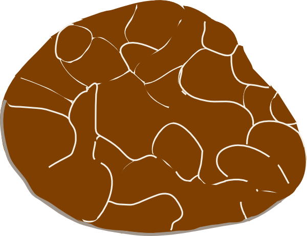 Stone Clip Art : Brown stone clip art at clker vector online