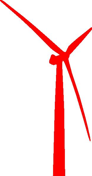 wind turbine red clip art at clkercom vector clip art