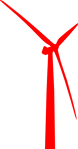 Wind Turbine Red Clip Art