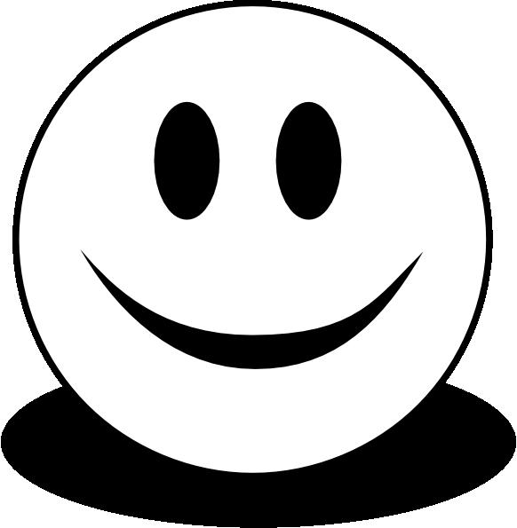 Smiley (b And W) Clip Art at Clker.com - vector clip art ...