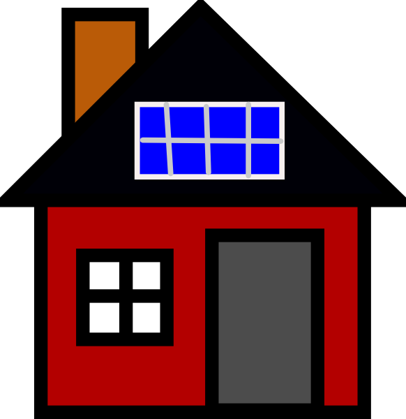 House With Solar Panel Clip Art At Clker Com Vector Clip