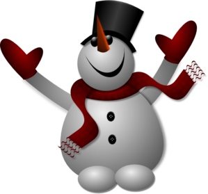 Happy Snowman Clip Art