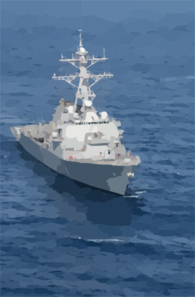 The Guided Missile Destroyer Uss Donald Cook (ddg 75) Underway. Clip Art