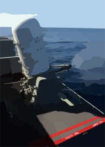 A Close-in Weapons System (ciws) Mount Uses Live Rounds During A Pre-aim Calibration Fire (pacfire) Aboard Uss Harry S. Truman (cvn 75). Clip Art