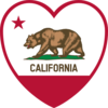 California Flag Heart Clip Art