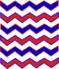Zig Zag Red And Blue Clip Art