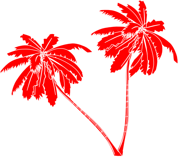 Red And White Palm Trees Clip Art At Clker Com Vector