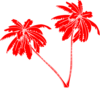Red And White Palm Trees Clip Art