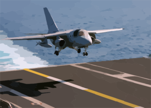 An S-3b Viking Prepares To Land Aboard The Aircraft Carrier Uss John F. Kennedy (cv 67). Clip Art