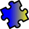 Blue To Yellow Puzzle Piece Clip Art
