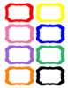 Rainbow Labels Clip Art