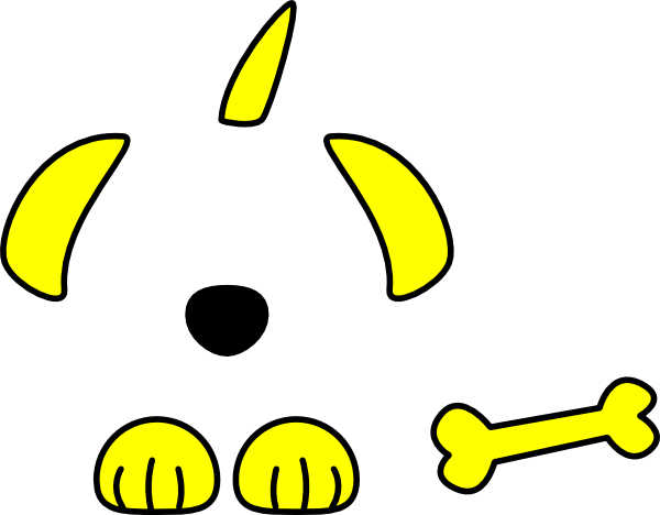 yellow dog clipart - photo #2