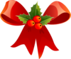Christmas Bow With Holly Clip Art
