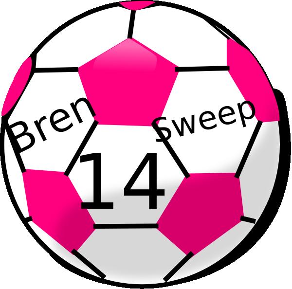 Soccer Ball With Hot Pink Hexagons Clip Art at Clker.com ...