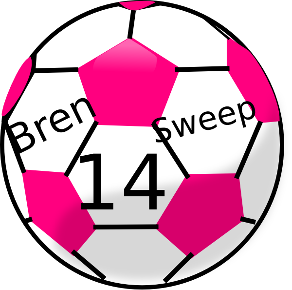 Soccer Ball With Hot Pink Hexagons Clip Art at Clker.com - vector clip ...