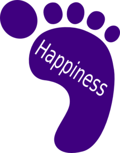 Right Foot Happiness Clip Art