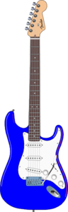 Electric Blue Guitar Clip Art