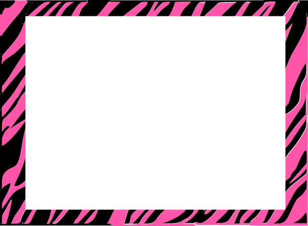 pink and white zebra print background clip art at clker com vector rh clker com zebra print frame clipart zebra print heart clipart