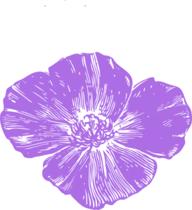 Purple Poppies Clip Art
