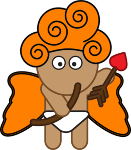 Orange Cupid Clip Art