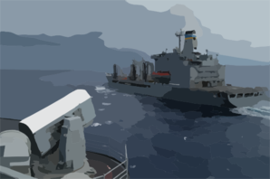 Uss Kitty Hawk (cv 63) Comes Alongside The Military Sealift Command Ship Usns Yukon (t Ao 202) Clip Art