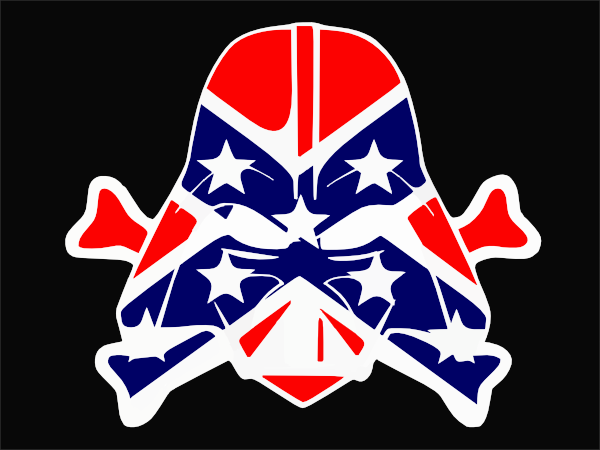 Rebel Flag Art http://www.clker.com/clipart-rebel-flag-dark-vader-cut.html