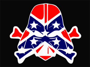 Rebel Flag Dark Vader Cut Clip Art