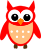 Red Hoot Owl Clip Art