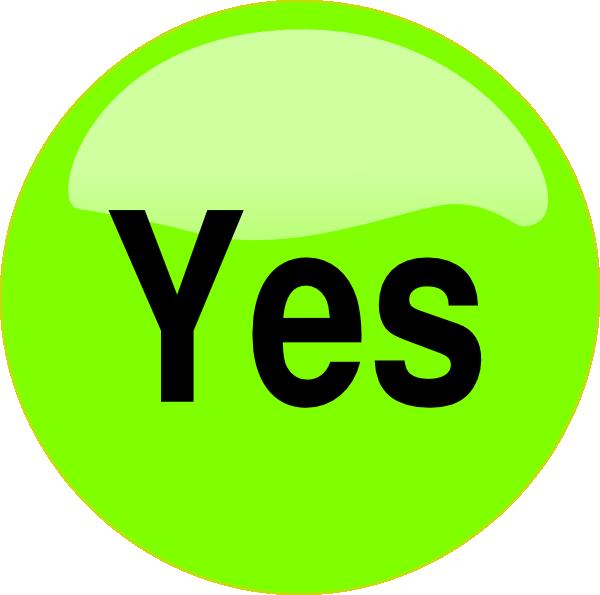 Yes Button Clip Art at Clker.com - vector clip art online ...