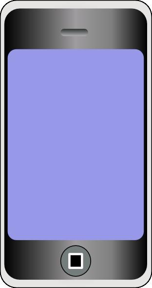 Cell Phone 2 Clip Art at Clker.com - 12.4KB
