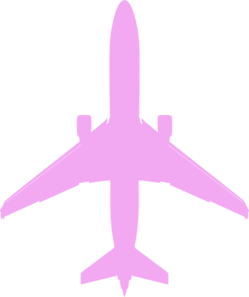 Pink Airplane Clip Art