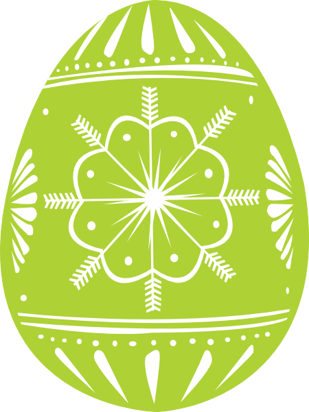 Easter Egg Green Clip Art at Clker.com - vector clip art ...