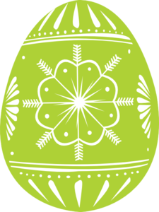Easter Egg Green Clip Art