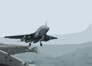 Ea-6b Launches From Uss Washington Clip Art