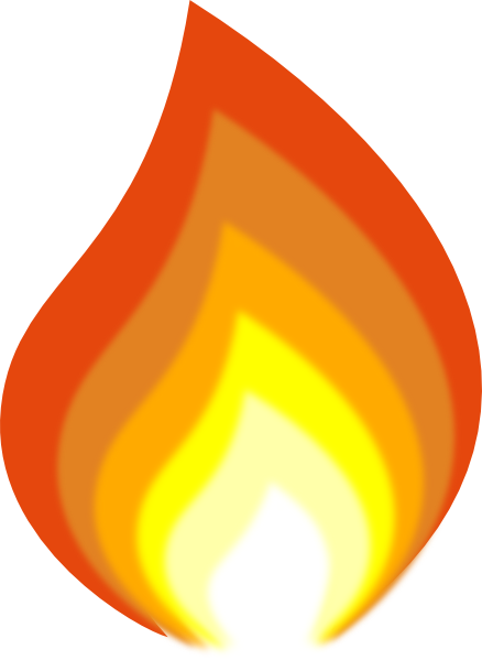 Flame By J-dub Clip Art at Clker.com - vector clip art online, royalty ...