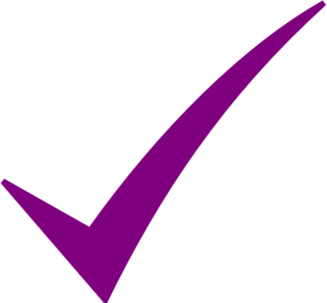 Check Mark-purple Clip Art