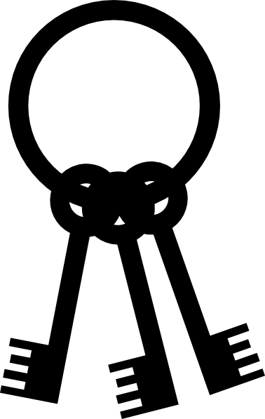 Black Keys For Pirate Clip Art At Clker Com Vector Clip